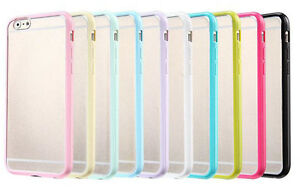 Apple-iPhone-5-5s-6-6s-Thin-Slim-Soft-TPU-bumper-frame-PC-Hard-back-clear-cover