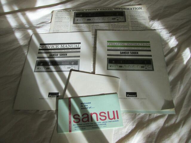 Sansui 5000x Receiver Originals Manuals Schematic Diagram