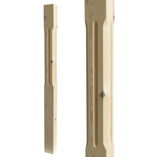 Select Timber and Type Chamfered and Fluted Stair Newel Post