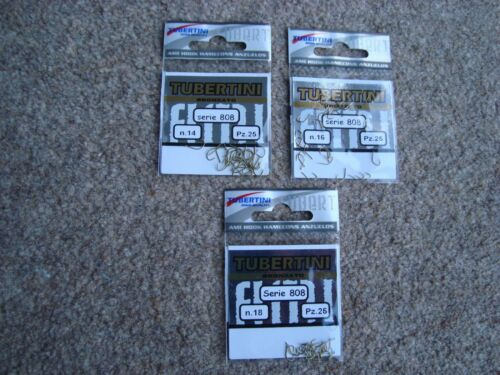 3 x Packets of Tubertini 808 barbless hooks