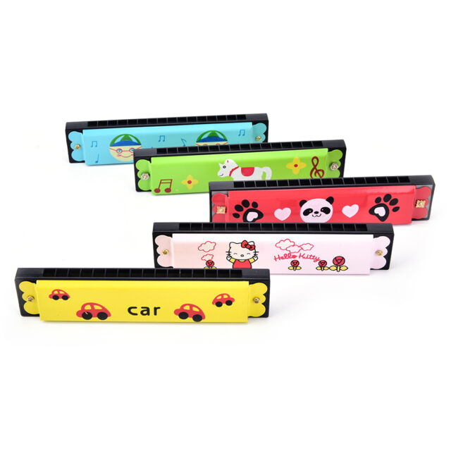 Kids Metal Cartoon 16 Holes Harmonica Mouth Organ Musical Instruments Toy NM M
