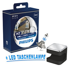 Philips H7 Racing Vision RacingVision +150% 2st. + OSRAM Cuby LED Taschenlampe