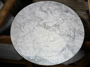 Tischplatte marmor bistrotisch platte rund 60 cm for Tischplatte rund marmor