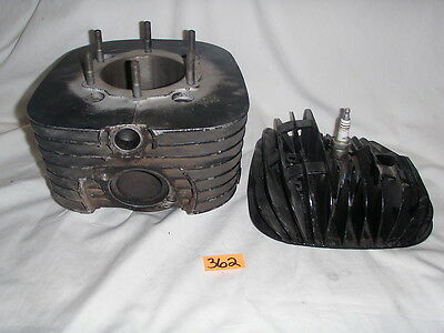 Yamaha Vintage CYLINDER AND HEAD Jug Barrel - ?  DT MX 400 D#362