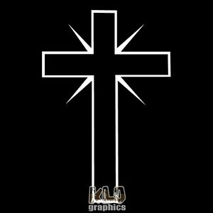 CROSS-vinyl-Sticker-Decal-CHRISTIANITY-Christian-Jesus-God