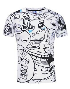 Cartoon-Faces-T-Shirt-bizarre-drole-visages-dessins-Trippy-Festival-Tee