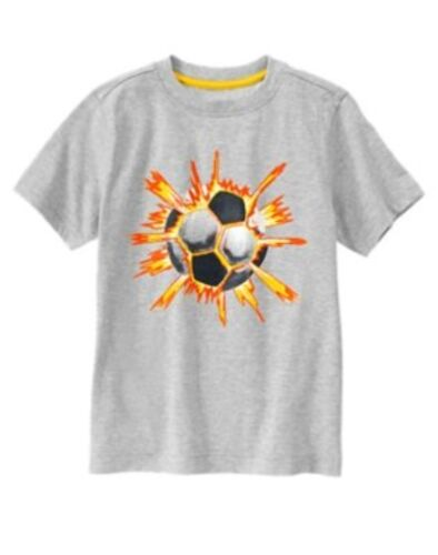 GYMBOREE EVERYDAY FAVORITES GRAY w// SOCCER BALL S//S TEE 5 6 NWT