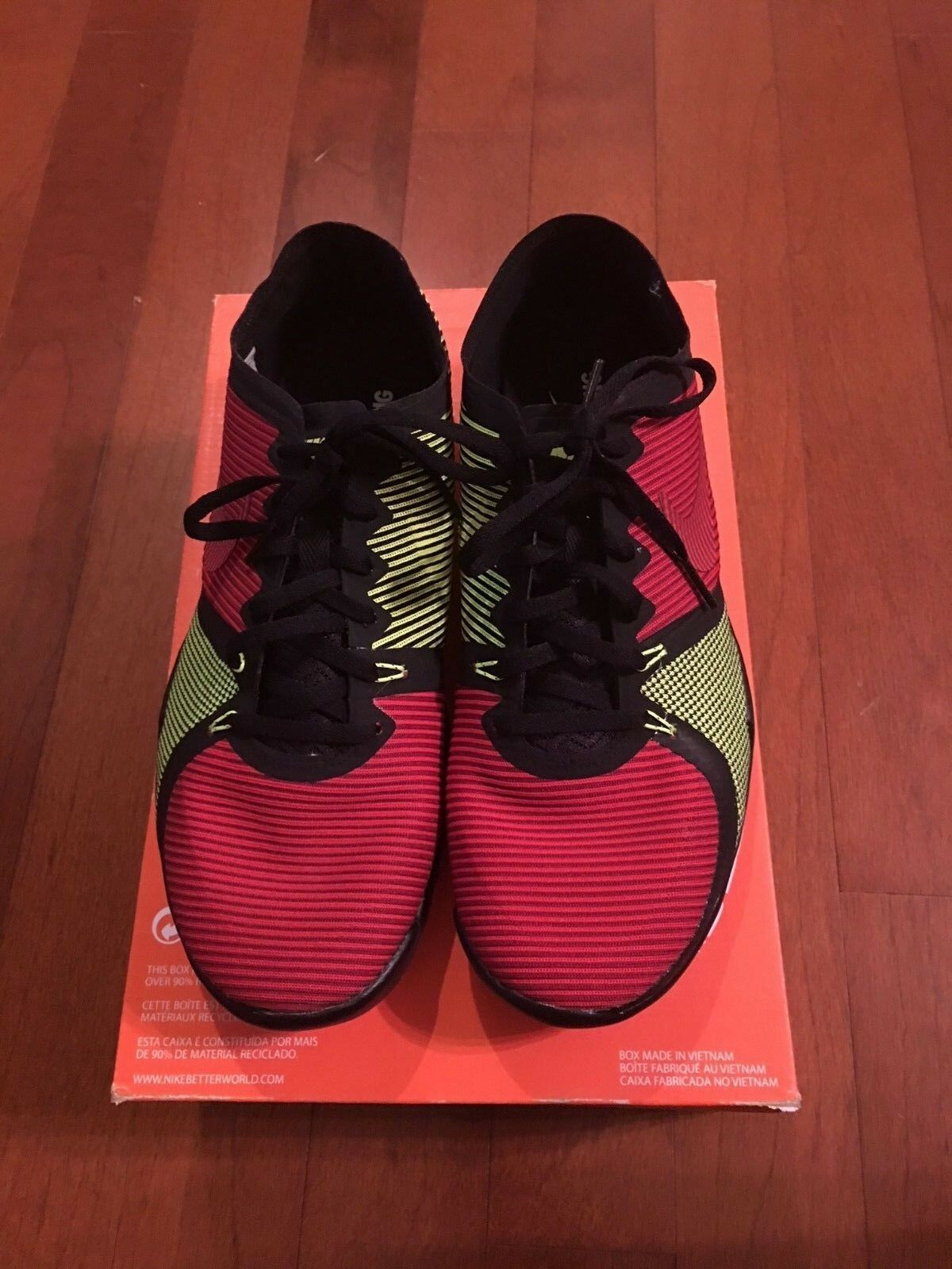 Nike Free Trainer 3.0 V4 Men's shoes Size 10 Red Yellow 749361 075 NEW In Box