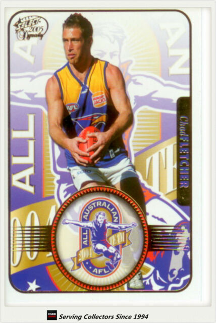 2005 Select AFL Dynasty All Australia Team Card AA20 Chad Fletcher (West Coast)