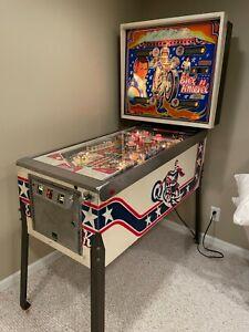 BALLY 1977 EVEL KNIEVEL PINBALL MACHINE LEDS PLAYS GREAT.