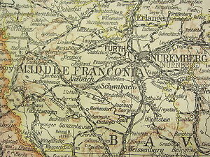 Map Of Germany 1919.Details About 1919 Large Map Germany South West Wurttemberg Bavaria Thuringian States