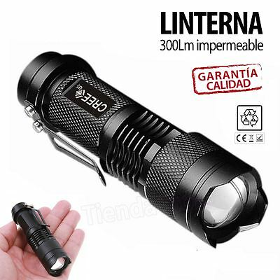 Linterna LED Foco Adjustable  Mini Flashlight Torch 300LM Super Bright Zoom