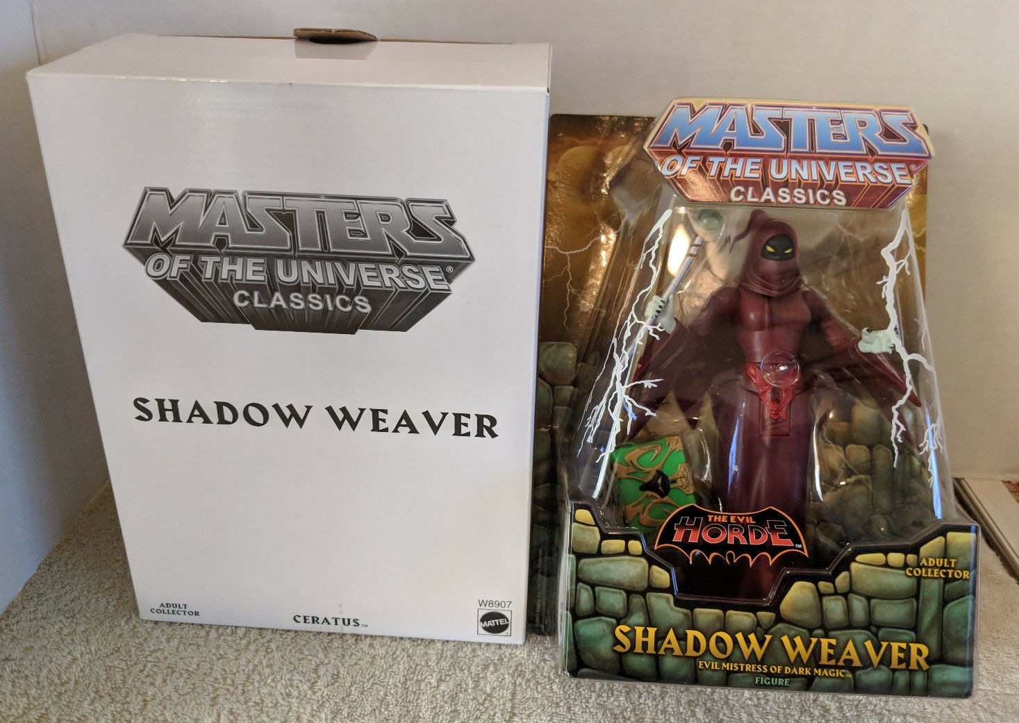 MOTUC Masters of the Universe Classics SHADOW WEAVER Sealed MOC NEW RARE