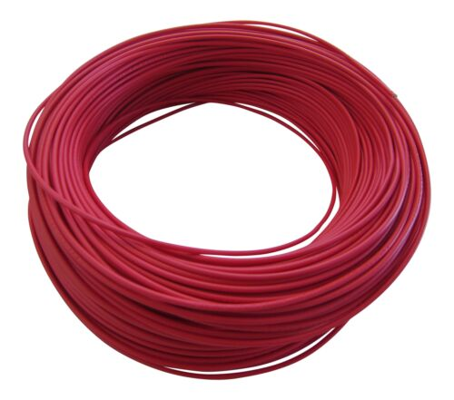M in Germany 0,38€//m KFZ LKW Kabel Litze Leitung Flexible FLRy 0,5mm² 5m Rot