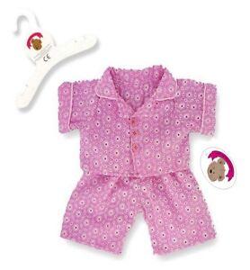 Teddy-Bear-Clothes-fits-Build-a-Bear-Teddies-Pink-PJ-039-s-Pyjamas-Bears-Clothing