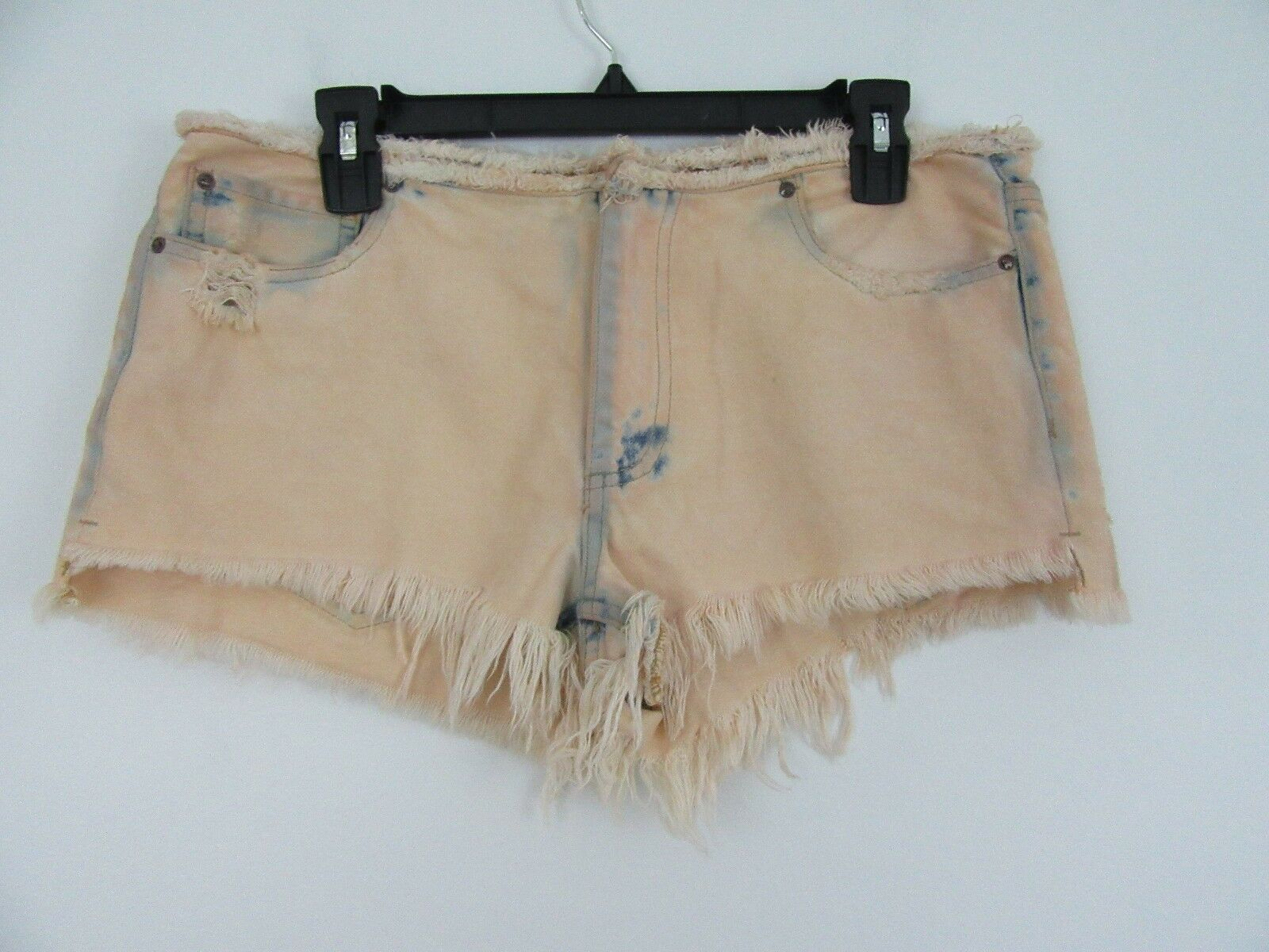 Free People Eli Bleached Out Cut Off Denim Shorts Size 27