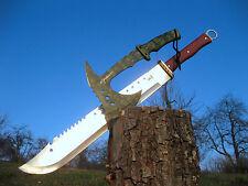 Riesen Zweihand Machete 69 cm + Massive Totenkopf Axt 33 cm Ax Hache M023 + A012