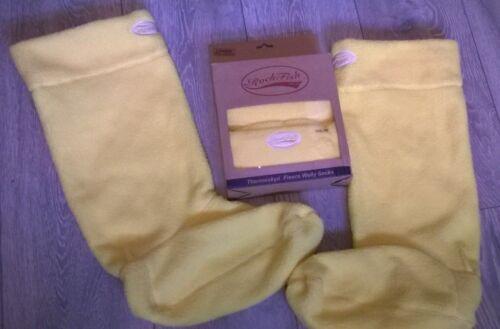 wellington socks Rockfish Riders Fleece Welly Socks Yellow Size large UK 9-10