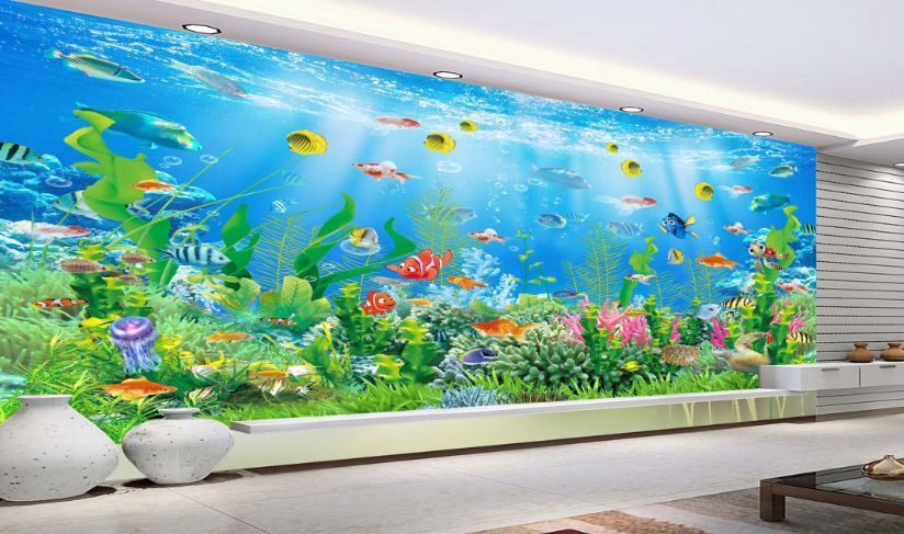 3D Die Unterwasser - Welt8 Fototapeten Wandbild Fototapete BildTapete Familie DE