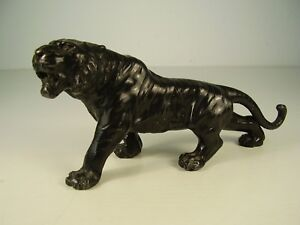 Antiker Großer Zinn Tiger Um 1900