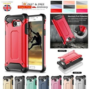 huge discount 6615d 1e8cb Details about Samsung Galaxy A3 [2017] Case - Heavy Duty Shockproof Rugged  Bumper Hybrid Armor