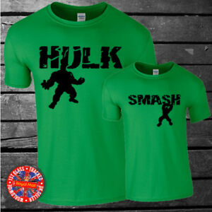 Marvel-Inspired-The-Hulk-family-matching-t-shirt-set-dad-kids-gift-summer