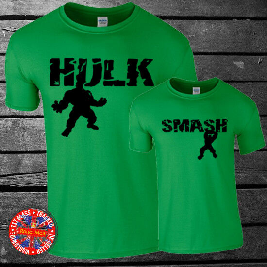 Marvel Inspired The Hulk family matching t-shirt set, dad, kids, gift, summer