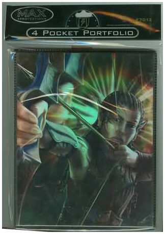 Elf Archer 4 Pocket Holofoil Portfolio Binder Max Protection GAMING SUPPLY NEW