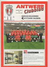 Orig.PRG  UEFA Cup   1993/94   ROYAL ANTWERPEN - CASINO SALZBURG  !!  SELTEN