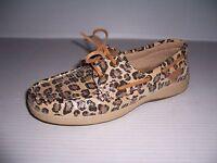 Maui Island Women's Leopard Print Boat Shoes Size 6