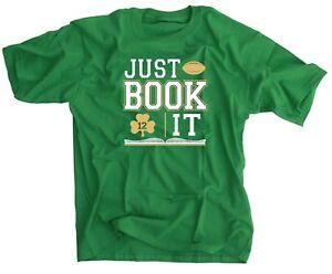 official photos 8c143 3b568 Details about Just Book It Irish Wear Green Shirt - Ian Book Shamrock 12  Jersey - Notre Dame