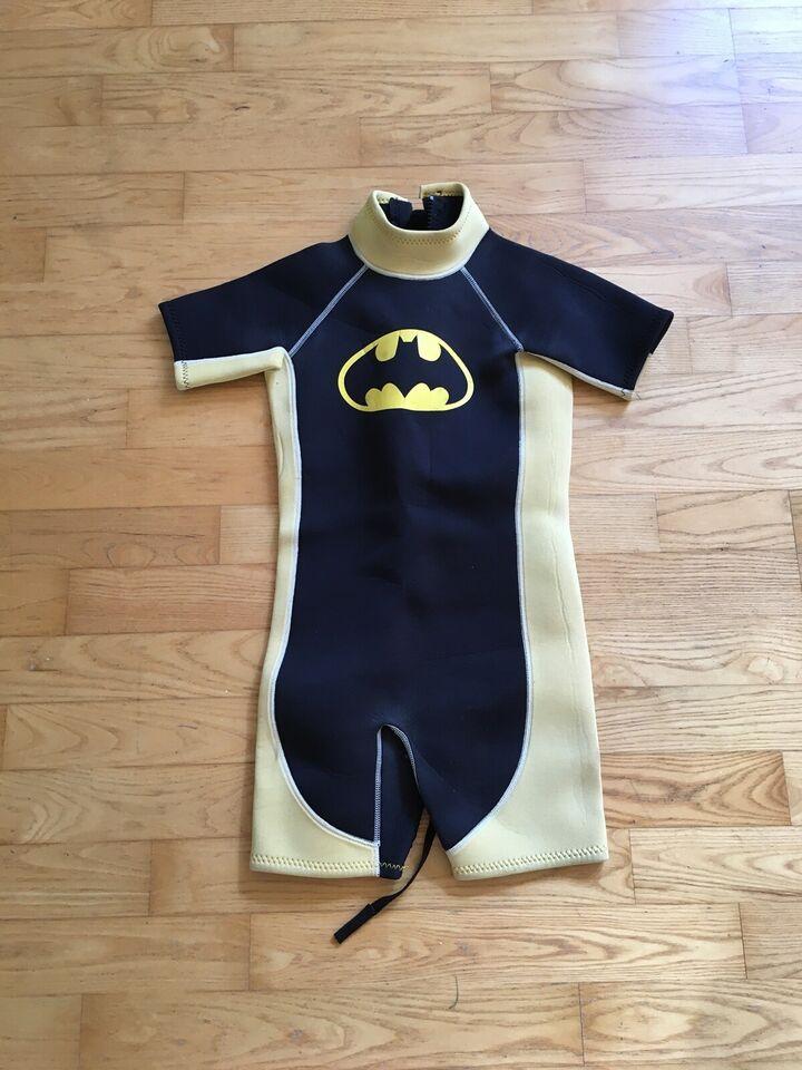Shorty 10-12 år, våddragt i neopren til børn, Batman