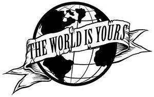 Scarface The World Is Yours Globe die cut vinyl decal sticker wall window car