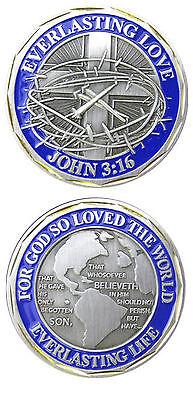 Everlasting Love John 3 16 Challenge Coin
