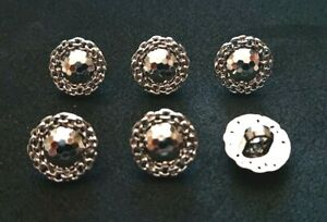 Set of 8 x 15mm Gold Daisy Blazer Jacket Coat Knitting Craft Buttons Shank