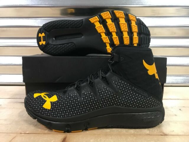 ad868d5fdc Under Armour X Project Rock Delta Highlight Black Gold Size 14 PJT  3000251-100