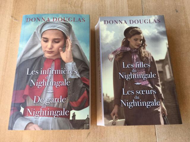 lot 2 livres Nightingale tomes 1 2 3 4 - Donna Douglas