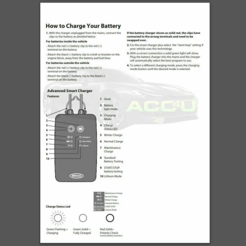 Ring RSC706 12v 6A 8 Stage Start//Stop Car 4x4 Smart Battery Charger /& Maintainer