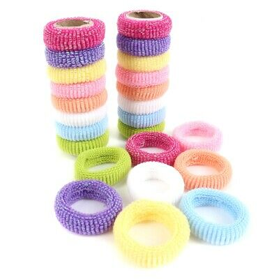 24x Girl/'s Hair Bobbles Bands Mini Baby Ponytail Elastic Stretchy Hairband tiny