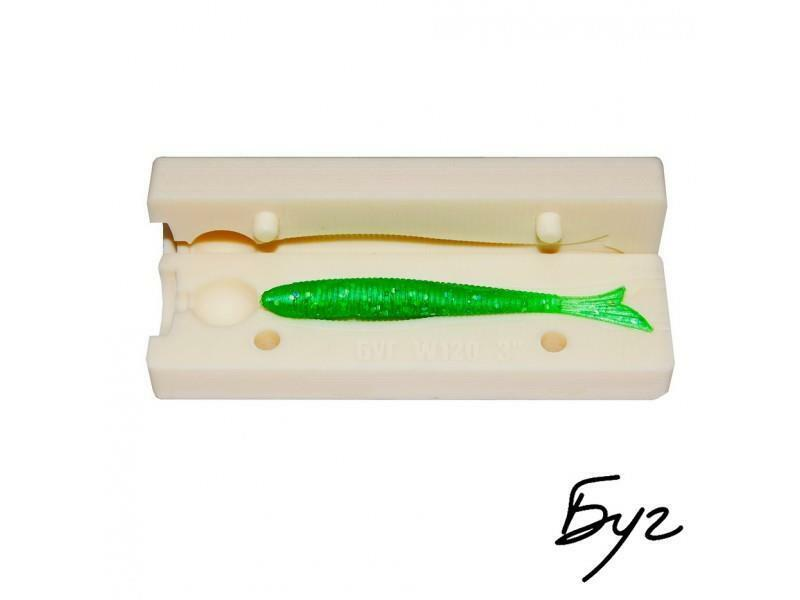 Stone Soft Making Bait  Plastic Molds Worms Mold Lure Injection Fishing Quality  happy shopping
