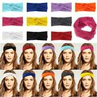 Girls Cotton Turban Twist Head Knot Headband Wrap Twisted Knotted Hair Band