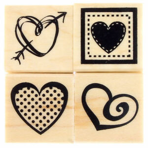 Valentine Love Text Clear Unmounted Stamp With Heart Wedding Or Enagement