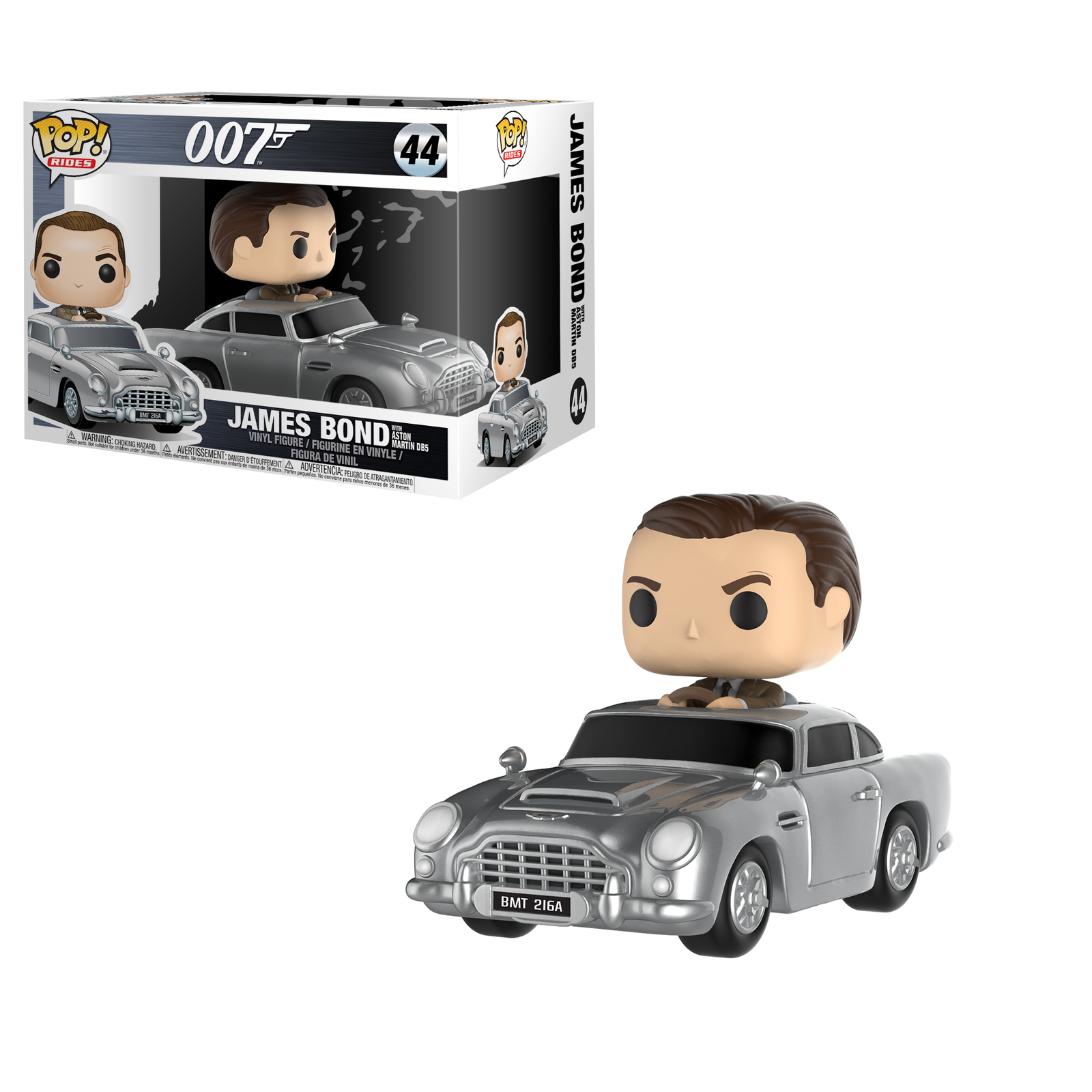 Funko Pop VINILE Rides James Bond 007 ASTON MARTIN & Sean Connery N. 44