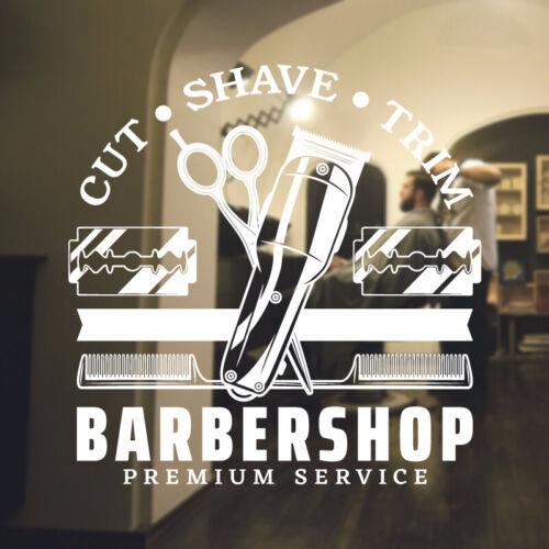 Barber Shop Autocollant Mural Hipster Barbe Graphics Citation Décalcomanie Art bb34