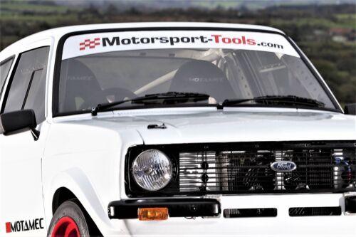 Motorsport Tools Windscreen Sunvisor Black /& Red on White