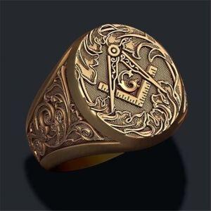 Freimaurer-Siegelring-Masonic-Tempelritter-Illuminati-Herren-Ring