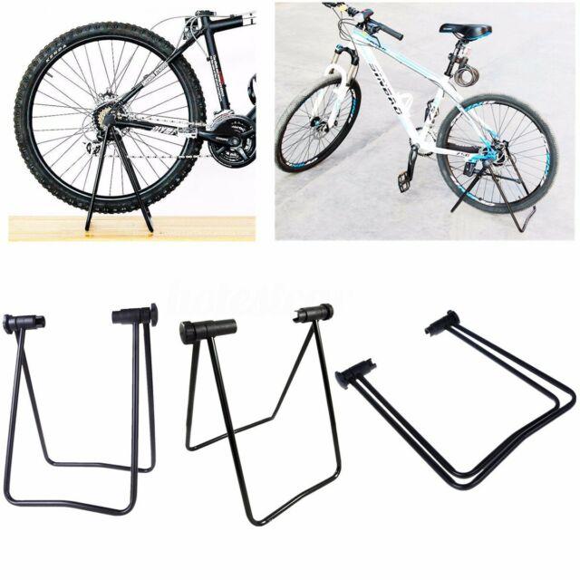 Folding Bike Bicycle Floor Stand Storage Parking Display Rack Work Repair