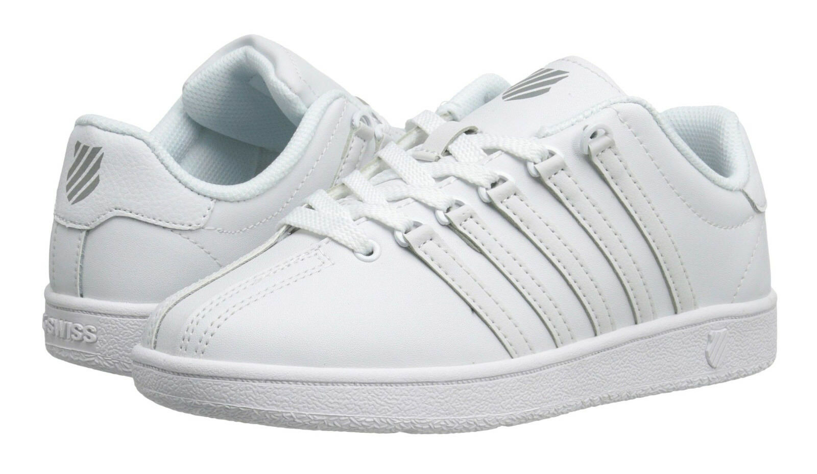 K-Swiss Classic VN Weiß, Weiß Big Sneakers Kids Sneakers Big Tennis Schuhes b57fb9