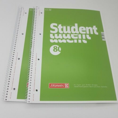 2 Stück Collegeblock A4 von BRUNNEN; in versch Lineaturen80 Blatt