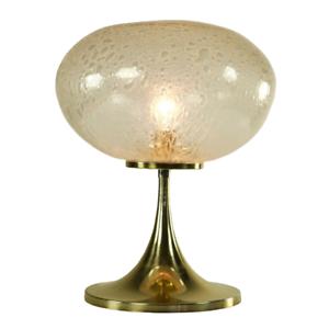 Doria-Tisch-Leuchte-Tulpen-Trompeten-Fuss-Design-Lampe-Glas-Vintage-alt-60er-70er